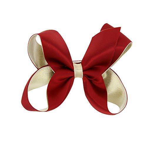VRTUR Stirnband, Baby Mädchen Bowknot Haarband Kinder Elastisches Blumen Stirnband Haarband Kopfschmuck(Einheitsgröße,X-Rot)