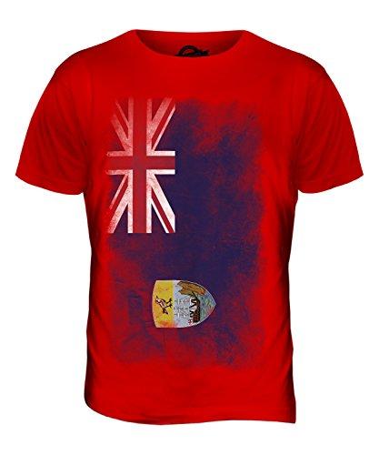 CandyMix St. Helena Verblichen Flagge Herren T Shirt Rot