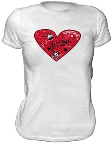 SKELANIMALS T-shirt femme BLANC ''Valentine'' Taille