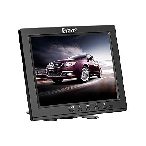 Eyoyo 8-Zoll TFT LCD Farb Video Monitor Schirm 1204*768 VGA BNC AV HDMI Eingang Eingebaut Lautsprecher Für PC CCTV Home Sicherheit (S801H-8 Inch)