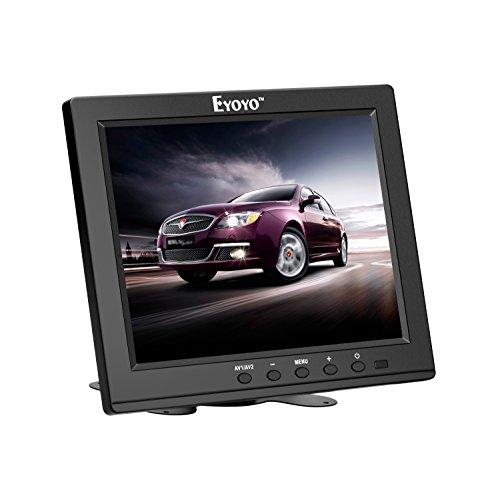 Eyoyo 8 pouces Écran TFT LCD Moniteur Vidéo Couleur 1024 * 768 Entrée VGA BNC AV HDMI Haut-parleur Intégré pour Sécurité de Maison PC CCTV
