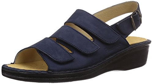 Fischer Damen Pantolette, Damen Offene Sandalen, Blau (521 Marine), 37 EU