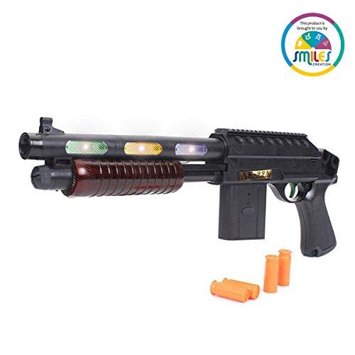 Smiles Creation Shot Gun Weapon With Light & Sound- AK-998 toy for kids