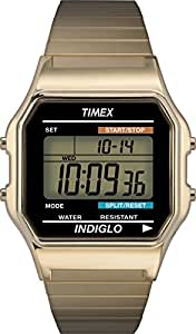 Timex - Homme - T78677 - Timex Original - Quartz Digitale - Noir et Vert - Noir - Cuir