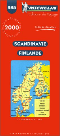 Scandinavie - Finlande. Cartes n° 985 - échelle : 1/1500000, 1cm=15km par Michelin Travel Publications (Carte)