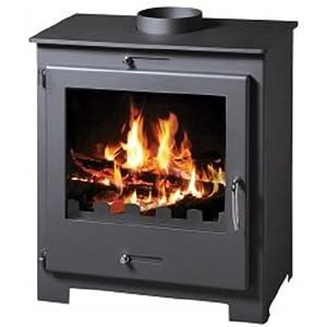 Estufa de leña chimenea de madera de alta calidad moderno sólido Log quemador agua chaqueta 11kW