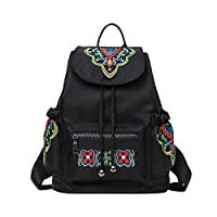 LOUYT Hot Chinese Style National Women Embroidered Backpack Butterfly Bag Female Nylon Vintage Back Pack College Students School Bags