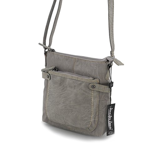 Jennifer Jones piccola borsa da donna präsentiert von ZMOKA® in diversi stili Colori, Olivebraun (marrone) - 0 pietra
