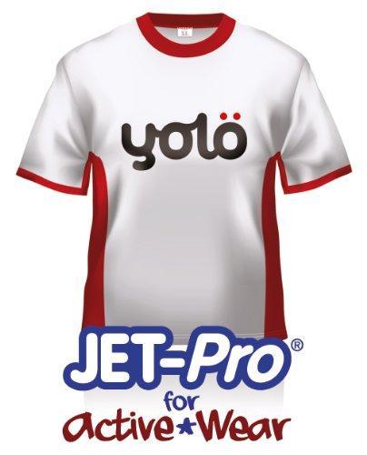 yolö creative 10 x fogli a4 di jet-pro per active wear di trasferimento del getto di inchiostro termico carta t-shirt/trasferimenti per sintetici