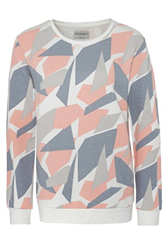 Rock Angel Damen Sweat-Pullover mit Allover Camouflage-Print | Basic Sweatshirt light-orange L