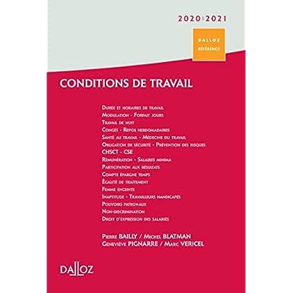 Conditions de travail 2020/21. Durée - Rémunération - Santé et sécurité - 1ère édition: Durée • Rémunération • Santé et sécurité