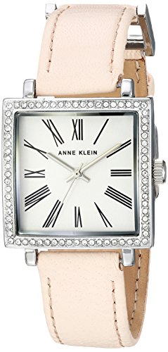 Anne Klein Women's AK-2939SVLP Silver Leather Japanese Quartz Fashion Watch