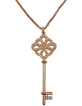 Castle Key Anhänger Kette Swarovski® Crystals von CRYSTALP Schlüssel Kettenanhänger Halskette Kristallschmuck...
