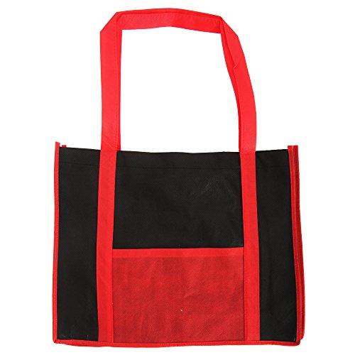 Bags by Jassz Hibiscus Einkaufstasche mit langen Griffen (Einheitsgröße) (Rot/Schwarz)