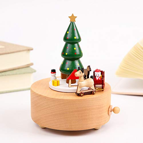 sic Box, Carousel Music Box, Christmas Tree Shape Crafts, Children's Toys, Vintage Christmas Birthday Presents, Home Decorations ()
