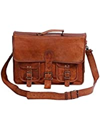 Leather Bag Vintage Brown Genuine Handmade Laptop Messenger And Sling Bag By Pranjals House
