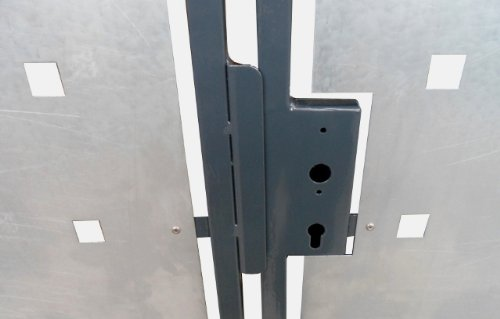 Hochwertiges, 2-flügeliges Tor / Einbaubreite: 350cm / Einbauhöhe: 150cm / Inklusive 2 Pfosten (60mm x 60mm) / Füllung (Bleche) verzinkt / Rahmen grau beschichtet / Einfahrtstor Gartentor Hoftor