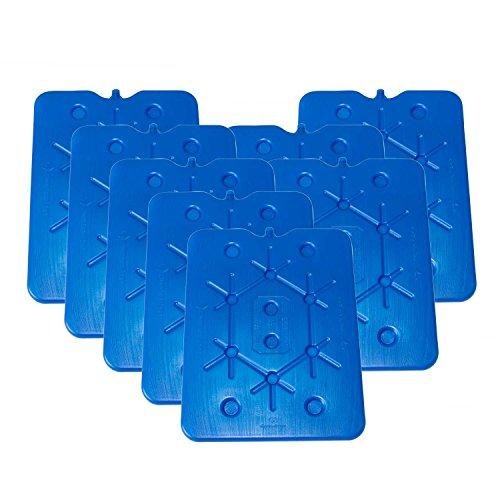 ToCi XXL Kühlakku 8er Set | Freezeboard (32x25 cm) mit je 800 ml | 2 Blaue Kühlelemente Iceakku für die Kühltasche Kühlbox Eisbox