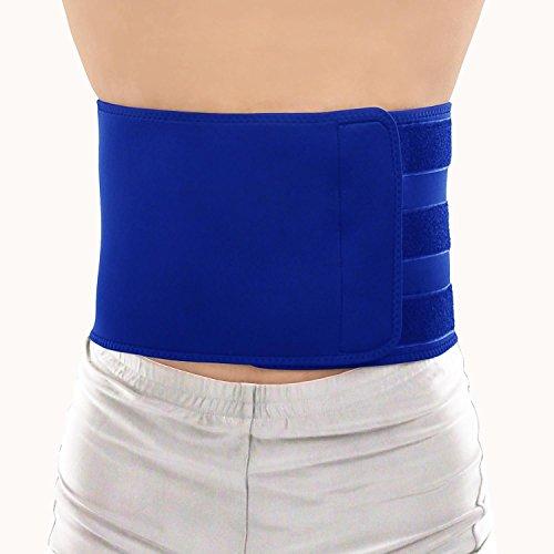Silverback Rückenstütze - Nierengurt Rückenbandage - Damen Herren Lendenwirbel Rücken Gürtel - Neopren Bandage Zur Haltungskorrektur - Größe L Farbe Blau