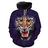 3D Roar Tiger Fashion Lila Kapuzenpullis EUR GRÖSSE as The Picture S