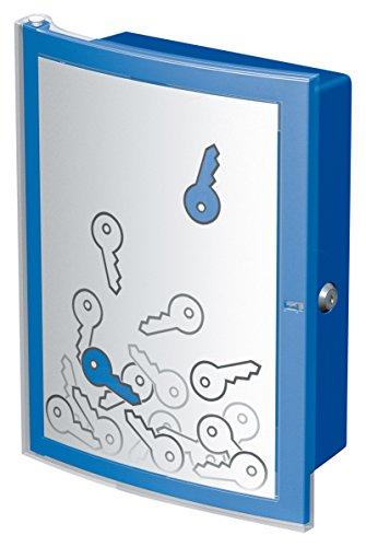 HAN Schlüsselbox INDEX 4023-14 in Blau mit Platz für 63 Schlüssel/Moderner Kunststoff Schlüsselkasten abschließbar & sicher/Schlüsseltresor zur Wandmontage
