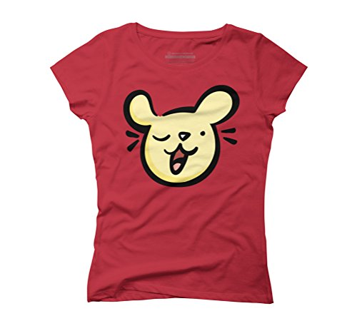 Winking Dog Women's Graphic T-Shirt - Design By Humans Red