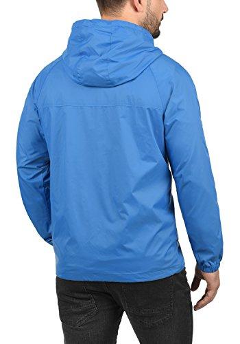 Blend Nevi Herren Windbreaker Regenjacke Übergangsjacke Mit Kapuze, Größe:S, Farbe:Nautical Blue (74632) - 3