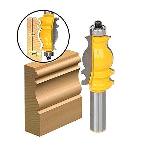 GS 1/5,1cm Schaft Architektonische Formen Router Bit Holz Form Meißel Cutter Tool