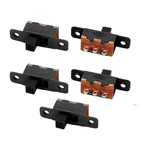 sourcingmap® 5Stück SS-12F16 2 Position 3P SPDT Miniatur Schiebeschalter Verriegel Kippschalter - Slide Dimmer Licht