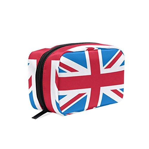 tizorax Union Jack Britische Flagge Praktische Kosmetik Tasche Kupplung Make-up-Tasche Organizer Reisetasche