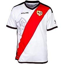KELME Rayo Vallecano Primera Equipación 2018-2019, Camiseta, White-Red, Talla