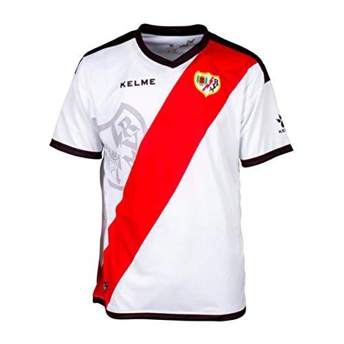 KELME Rayo Vallecano Primera Equipación 2018-2019, Camiseta, White-Red, Talla 6