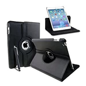 MOFRED® Black New Apple iPad Air (Released November 2013) Rotating Case-MOFRED®-360 Degree Rotating Standby Case for Apple iPad Air with Built-in magnet for Sleep & Awake Feature + iPad Air Screen Protector Film + Stylus Pen (available in multiple colors)