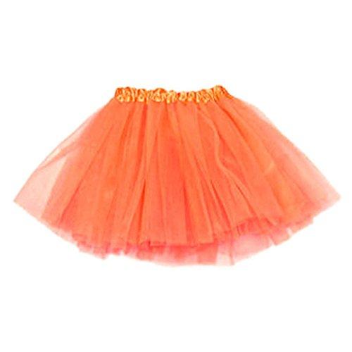 Vovotrade 2016 Mädchen-Prinzessin Pettiskirt Partei Ballettröckchen -Rock-Minikleid (Orange)
