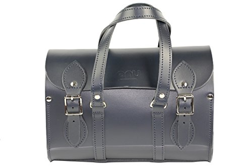 Anu® WC6 Echtleder Damen Handtasche in British, Stil – handgefertigt in England Gr. Medium, Blau - Navy (Handtaschen Damen Chanel)