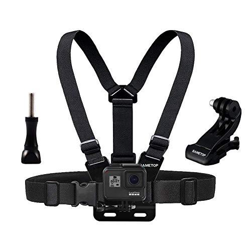 Sametop Brustgurt Halterung Gurtsystem Chest Mount Kompatibel mit GoPro Hero 8, 7, 6, 5, 4, Session, 3+, 3, 2, 1, Hero (2018), Fusion, Max Kameras