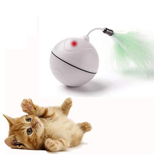 Bola Carga USB automática Juguetes Gatos luz interactiva