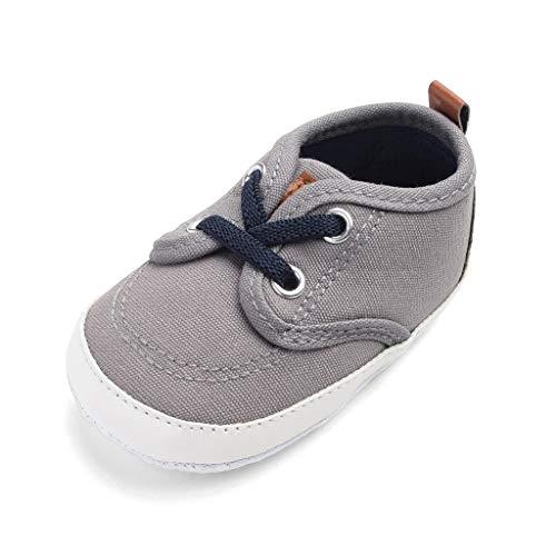 (Mitlfuny Unisex Baby Kinder Jungen Zubehör Säuglingspflege,Neugeborenen Jungen Candy Farbe Nähen Anti-Slip Erste Wanderer Weiche Sohle Schuhe)
