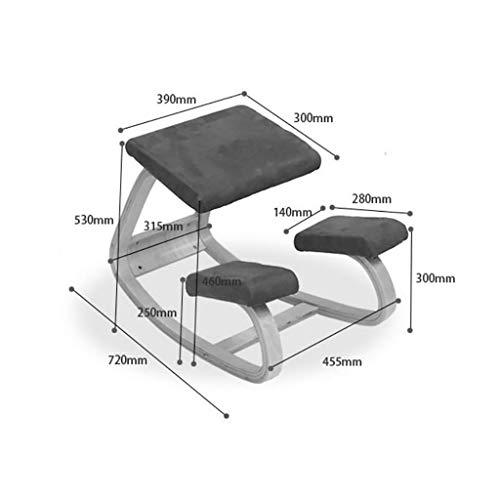 MJY Haushaltsprodukte Hocker Computerstühle, Massivholz Rektifikationsstühle Sessel Reitstühle Lernstühle Wirbelsäulenstühle Drehstühle Yogastühle,EIN, - Master Corrector