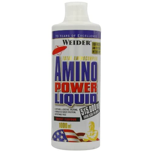 41ENGtEXQuL. SS500  - Weider Amino Power Liquid 1L Energy, Essential Amino Acids, L-leucine, Free Taurine, Vitamin B8