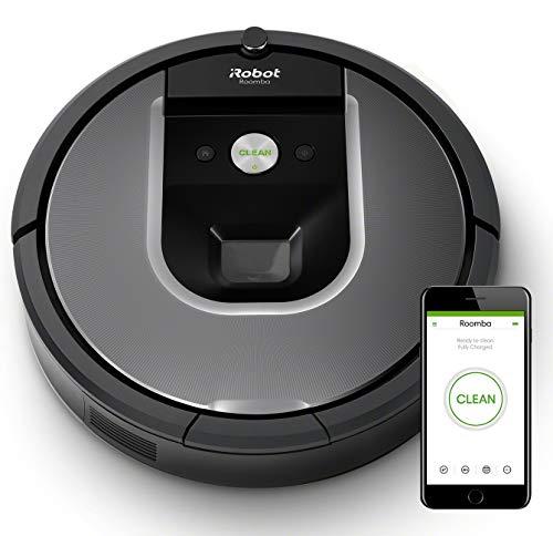 iRobot Roomba 960 - Robot Aspirador Óptimo Mascotas, Succión 5 Veces Superior, Cepillos de Goma Antienredos, Sensores Dirt Detect, Suelos y Alfombras, con Wifi, Programable por App, compatible Alexa
