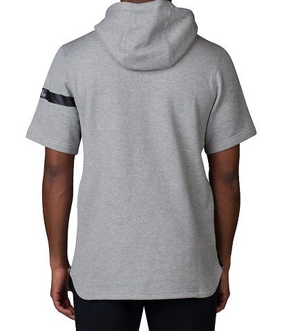 Nike AIR Pivot V3 SS Hoody-Felpa da uomo Gris / Negro (DK GREY HEATHER/BLACK)