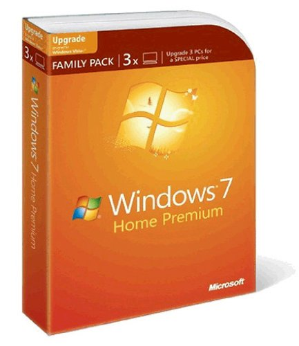 Windows 7 Home Premium Upgrade Family Pack (3 Lizenzen) (Premium Windows 7 Home)
