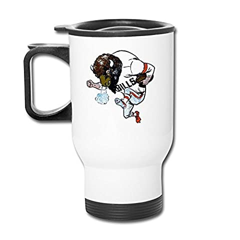 Ceramic Travel White Cups Circle The Wagons - Buffalo Bills Tumblers Travel Mugs Insulated Coffee Cup
