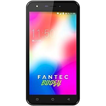 FANTEC Boogy Smartphone 13,97 cm (5,5 Zoll) HD Display (Dual SIM, Android 7, 8MP Kamera 5MP Frontkamera, 16GB und 1GB Speicher) schwarz