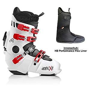 DEELUXE-TRACK-225-white-mit HP-Flex-normaler Innenschuh Snowboard-HARDBOOT Raceboard
