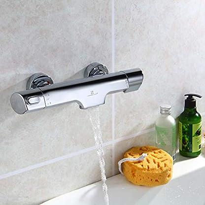 41ENKD787pL. SS416  - Homelody 38°C Termostato para ducha Termostato de ducha Grifo termostático para bañera y ducha Montaje en pared