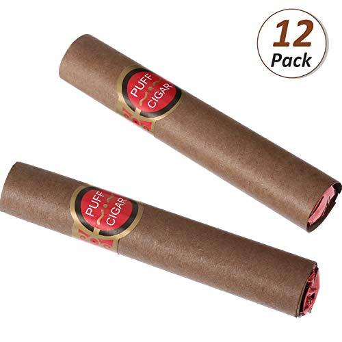 Gefälschte Puff Zigarren Realistisch aussehende Zigarre Requisiten Kostüm Zigaretten Spaß Zigarette Spielzeug für Halloween Partys Gag Geschenke Gefallen (12 Stücke) (Halloween-kostüme Aussehende Echt)
