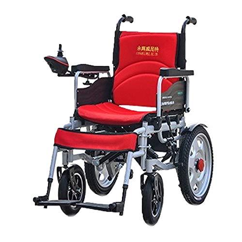 Elektrischer Rollstuhl mit 360° Joystick Faltbar Leicht Elektromobil Klappbar Intelligenten Roller Klappbar Design Last 100kg Gute Qualität