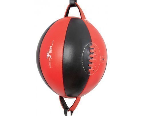 Precision Training Men's Precision Box Leather Floor to Ceiling Punchball - Black / Red by Precision Training